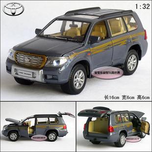 New 1:32 Toyota Land Cruiser Diecast Model Car With Sound&Light Blue B207c(China (Mainland))