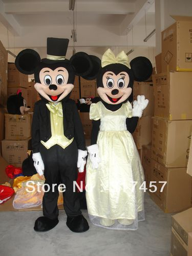 Wedding Minnie and mickey  Mascot Costume Adult Character Costume Cosplay mascot costume free shippingОдежда и ак�е��уары<br><br><br>Aliexpress
