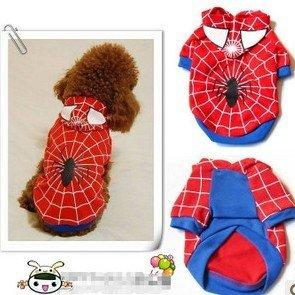 Free Shipping Spider-Man Pet clothes, Pet Cloth/coat, Dog Cloth/Coat