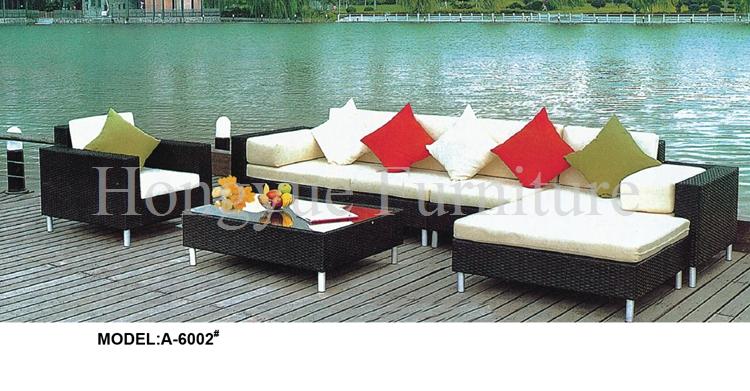Outdoor corner rattan sofa furniture set with cushion sale(China (Mainland))