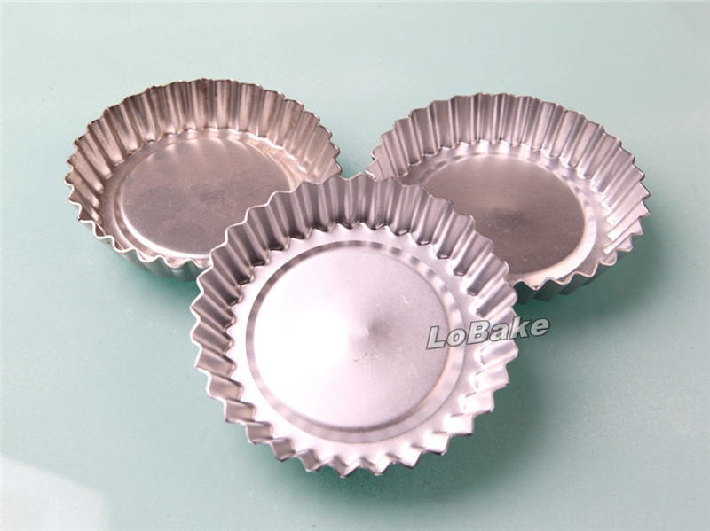 (5pcs/lot) 4 inches round mum sun flower shape fluted wall aluminium alloy pizza pie pan jelly tart mold small cup cake mould(China (Mainland))