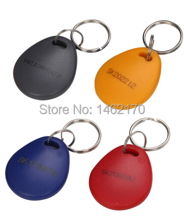 free shipping T5200/4305 chip big ID Card chain/ Keyfobs Ring 125Khz RFID Card Proximity ID Token Tags for Access Control Time(China (Mainland))