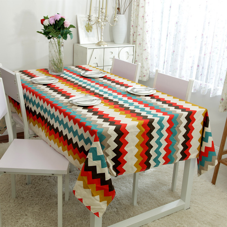 100% Cotton Table Cloth Europe Wave Geometric Print High Quality Tablecloth Table Cover manteles para mesa Free Shipping(China (Mainland))