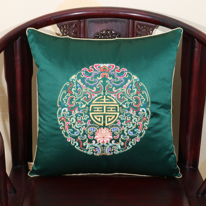 Embroidery Eight groups Dragon Cushion Covers Luxury Lumbar Pillow Sets Chinese Ethnic style Satin Brocade Zipper