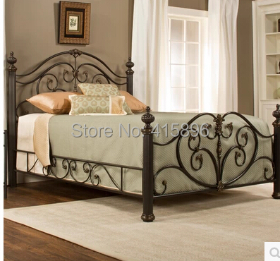 hot selling queen iron beds design(China (Mainland))