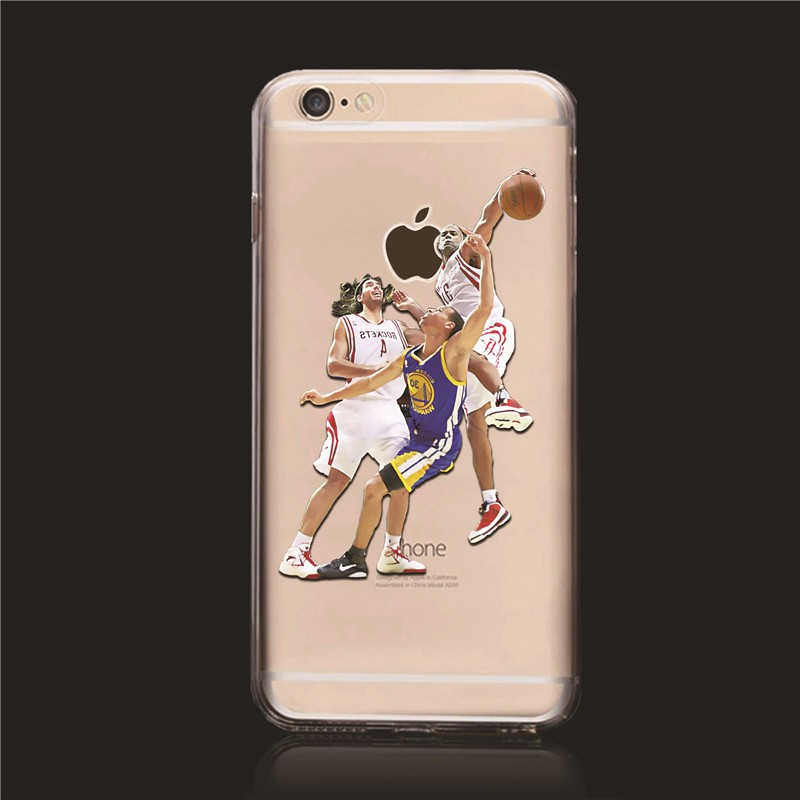 i5/i6 4.7/5.5 Inch NBA Superstar Curry Dunk Color Phone Shell Cases Cover For iPhone 5 5S 5C 6 6S 6 plus 6s plus SE Case