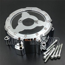 CHROME Motorcycle Left Engine Stator cover see Kawasaki ZX ZX14R ZZR1400 2006 2007 2008 2009 2010 2011 2012 2013 - MFS MOTOR store