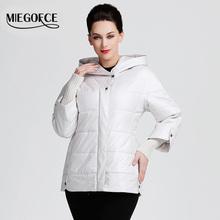 MIEGOFCE 2016 Spring new jackets women fashion warm padded cotton jacket coat Medium-Long jacket Quilted big size parka hot sell(China (Mainland))