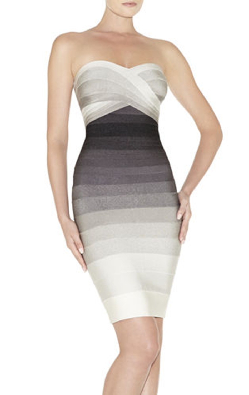 Gradient  RAYON MINI   Bodycon Dress Women Knitted Elastic Off The Shoulder  HL Celebrity  Bandage DressОдежда и ак�е��уары<br><br><br>Aliexpress
