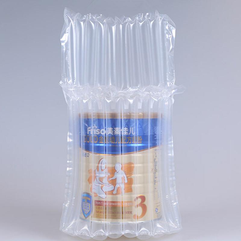 DHL 90Pcs/ Lot 15*21cm Clear Plastic Air Bubble Column Easy Broken Milk Powder Canned 11 Column Anti Pressure Storage Bag Pouch(China (Mainland))