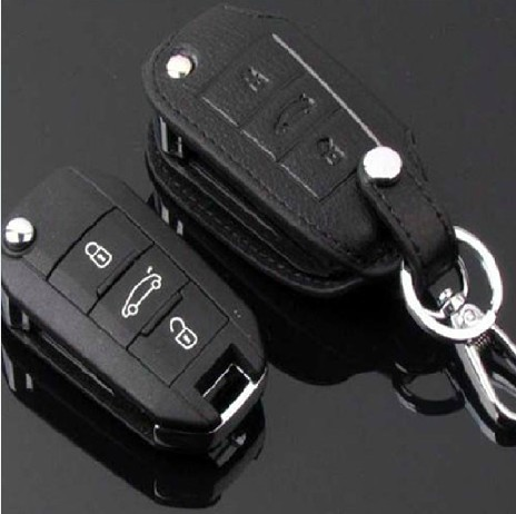 Free shipping for Pegeot 3008 key case   3008 peugeot  folding key genuine leather key cover key wallet  3008 peugeot key cover<br><br>Aliexpress