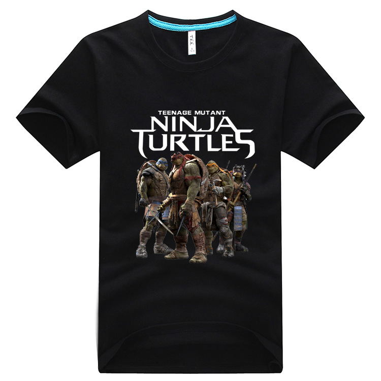 2016 new fashion Men's o-neck cotton t shirt High Quality Teenage Mutant Ninja Turtles Printed homme clothing Hombre Tee Shirt(China (Mainland))