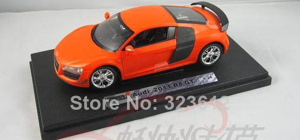 New 1:24 AUDI R8 Alloy Diecast Vehcile Car Model Toy Collection With Box With Tail Orange B1722(China (Mainland))