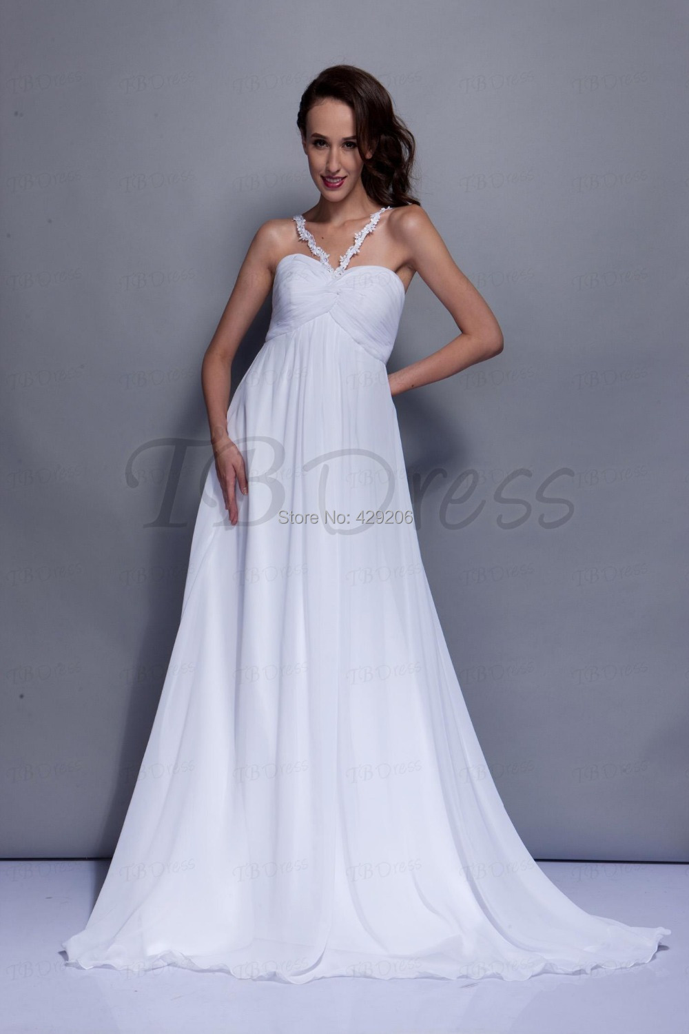 Simple informal wedding dresses promotion shop for for Simple casual wedding dresses