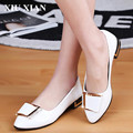 2017 Hot Sell White Women Flats Shoes Crystal Nonslip Summer Flats Shoes Ankle Metal Buckle Working