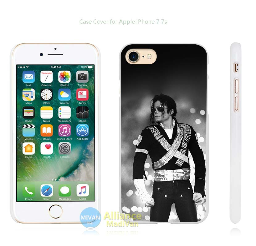 michael jackson bw concert king of pop Hard White Case Cover for Apple iPhone 4 4s 5 5s SE 5C 6 6s 7 7s Plus(China (Mainland))