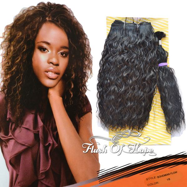 Free Hair Bulk Noble Gold Bohemian Flow Curly Synthetic ...