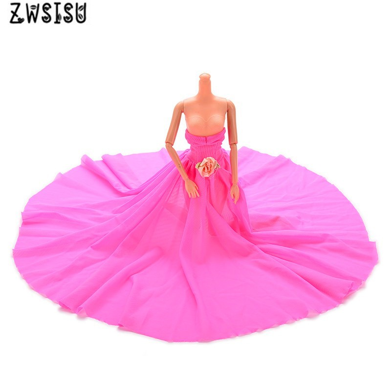 Free Transport 1set trend doll garments doll gown Night Occasion Wedding ceremony Costume For Barbie Doll,toys for women reward