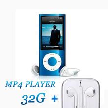 Встроенный 32 ГБ новый синий цвет FM видео 4-го поколения MP3 MP4 плеер динамик бесплатная доставка с свободным подарком