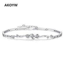AKOYW Angel Heart 925 Silver Bracelets Lady fashion high quality wedding jewelery Advanced amethyst jewelry(China (Mainland))