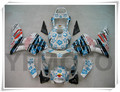Motorcycle White Blue Flowers Injection Fairing KIT For H O N D A CBR600RR CBR 600RR