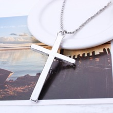 Hot Europe And The United States Vintage Jewlery fully jewelled Color Cross Pendant Necklace Wholesale Price