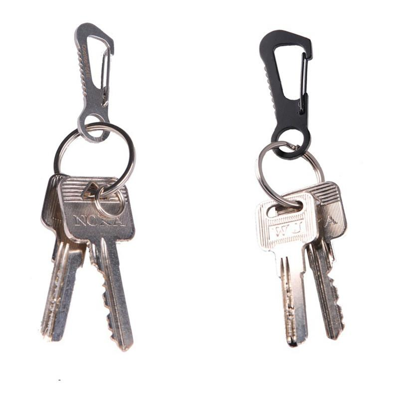 Multifunctional Tool Stainless Steel Carabiner Metal Hook Keychains Clasps Botthle Opener Pocket Outdoor Survival Kits(China (Mainland))
