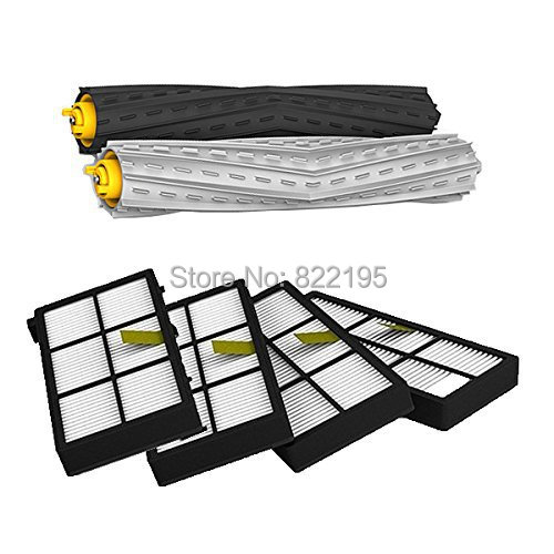 Tangle-Free Debris Extractor Set & 4 Hepa Filters replacement For iRobot Roomba 800 series 870 880(China (Mainland))