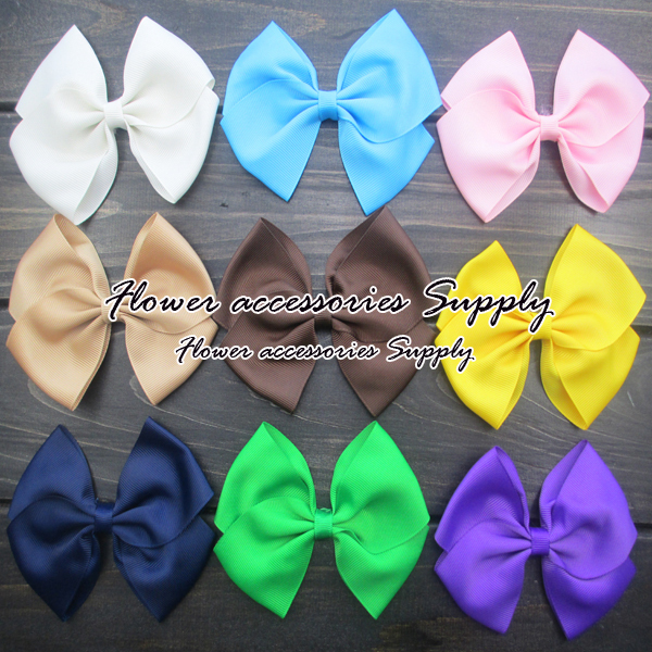 EMS free shipping!cheap wholesale1000pcs/lot,High quality 5solid baby bow without clip,Grosgrain ribbon bow for baby headbands.Одежда и ак�е��уары<br><br><br>Aliexpress
