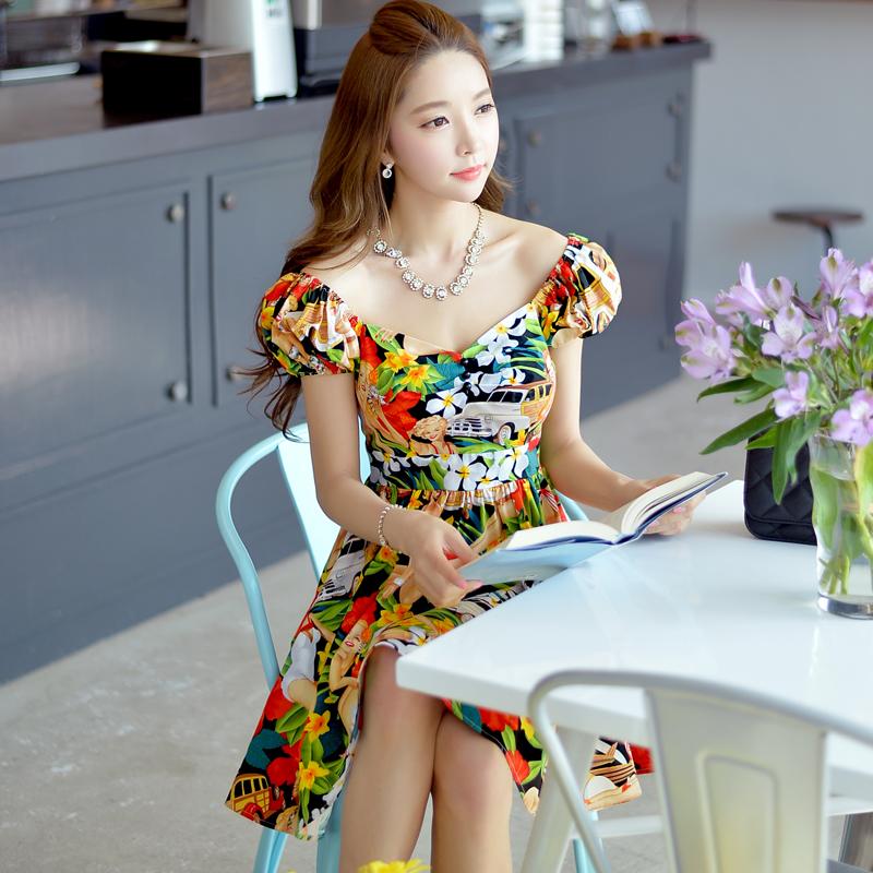 Original New 2016 Brand Summer V-Collar Sexy Plus Size Slim Vintage Kimono Red Printed Pattern Women Dresses Wholesale(China (Mainland))