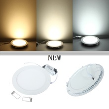 Free Shipping NEW Hot Ultra Thin Design 3W 4W 6W 9W 12W 15W 25W LED Ceiling Recessed Grid Downlight / Round Panel Light(China (Mainland))