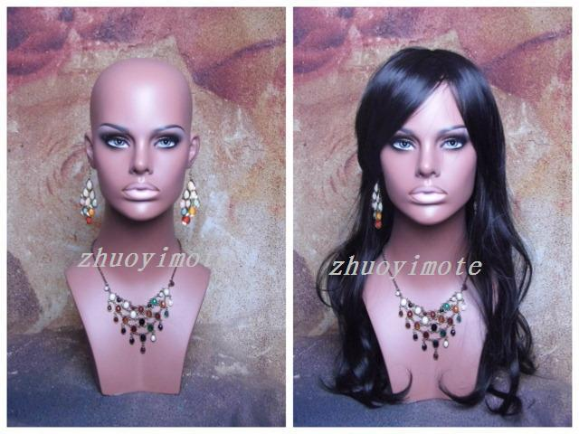High quality Fiberglass Realistic female mannequin head  Manikin dummy head bust for mask&hat & sunglass & jewelry&wigs display