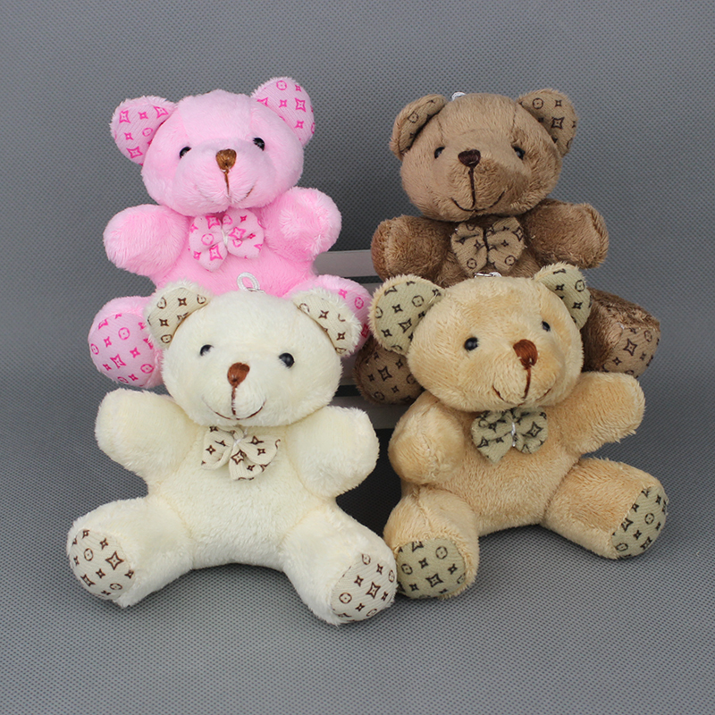 9cm mini teddy bear small plush toys for bouquets , wedding decoration Promotion Gifts,20pcs/lot(China (Mainland))