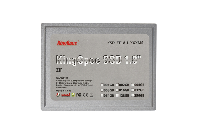 60% OFF Kingspec 1.8 '' ZIF CE SSD Disk 8GB 16GB 32GB 64GB 128GB ATA IDE ZIF2 Solid State Disk For Dell Mini12,D420,D430,XT,HTC(China (Mainland))