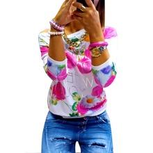 Floral Jumper Pullover Hoodies Blouse Sweatshirt Lady Girls Coat(China (Mainland))
