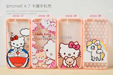 KT Cat Cartoon Pattern Phone Cases iphone6 6S 4.7 inch TPU Acrylic Cover Apple iphone 6 Case - Shenzhen NewTech Electronics Co., Ltd. store
