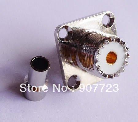 50pcs UHF PL259 female panel crimp connector for RG58 LMR195<br><br>Aliexpress
