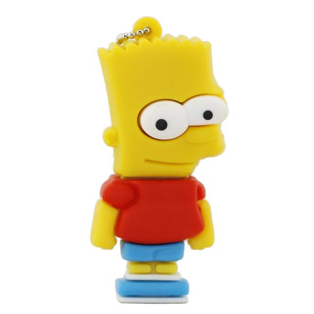 Cartoon Simpson Homer Bart USB Flash Drive 1GB 2GB 4GB 8GB 16GB 32GB USB Pen Drive Memory Stick Pen Drive Free Shipping USB Disk