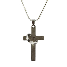 Fashion Cross Pendant Necklace Vintage Sterling Silver Statement Chain Necklace in Jewelry for Men Women 2015