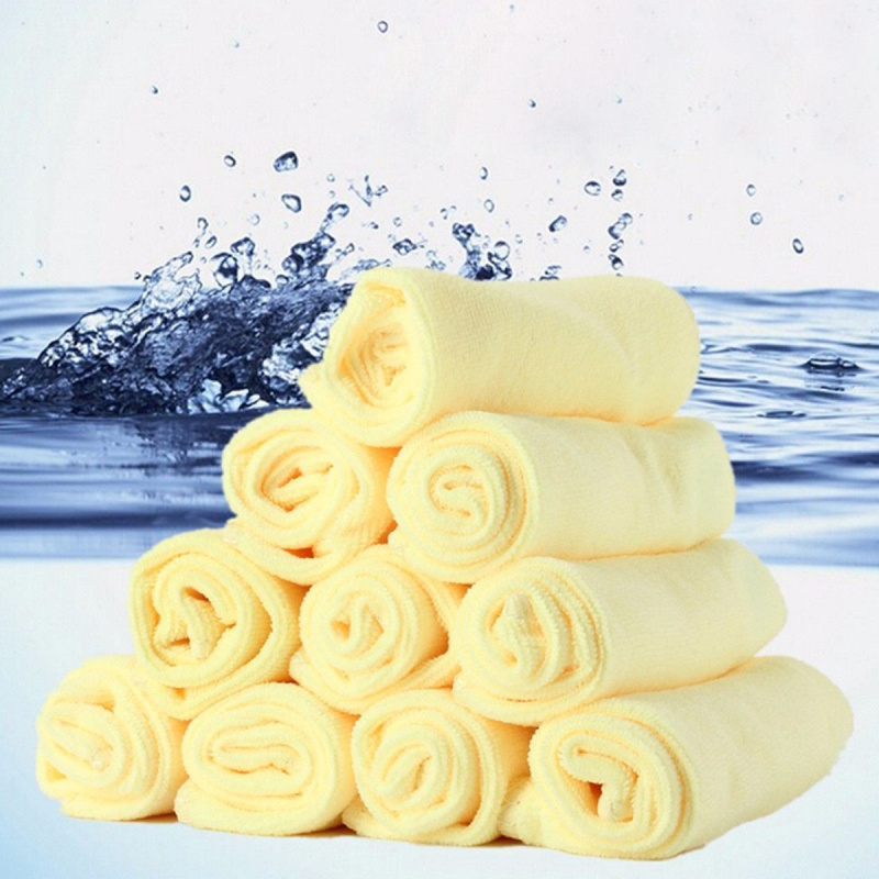 10pcs Water Absorbent Microfiber Car Cleaning Towel Home Kitchen Washing Polishing Cleaner Square Towels 30*30cm(China (Mainland))