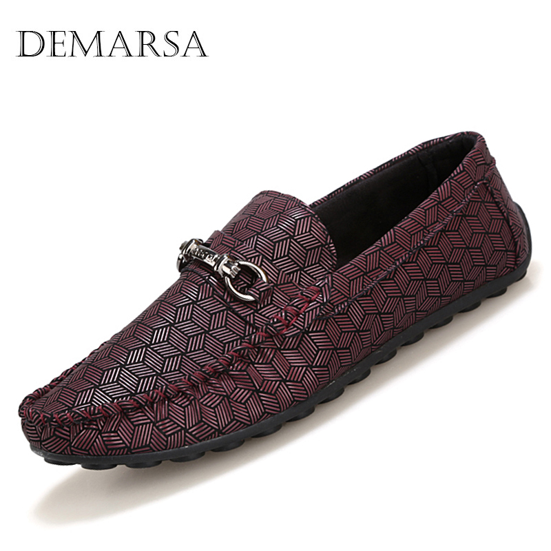 2016 New men printing leather loafers Spring summer sequined driving shoes Casual Gingham men boat shoes X163(China (Mainland))
