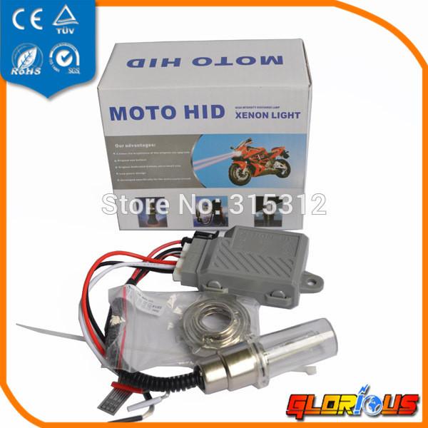 High intensity discharge Motor/Motorcycle Bike Hid Lights Kit H6 12V 35W 6000K, motorcycle headlight HID kit moto xenon(China (Mainland))