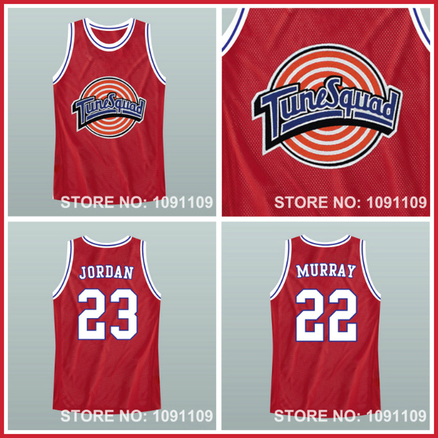 lxxsjn Space-Jam-Jersey-23-Michael-Jordan-Jersey-22-Bill-Murray-Jersey