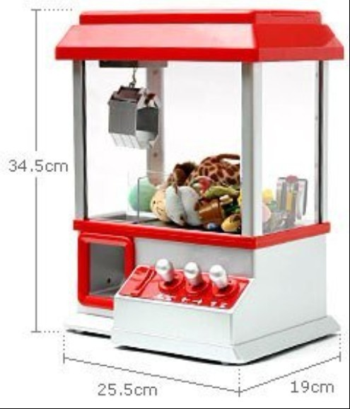Free Shipping 4 Pieces Candy House ! Vending Games Candy Grabber Machine Arcade Claw Machine(China (Mainland))