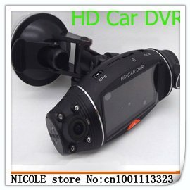 2012 new model! free ship! Full HD 1080P Double Lens car black box,car dvr, car camera with G-Sensor 2.7TFT-GS1000+F900