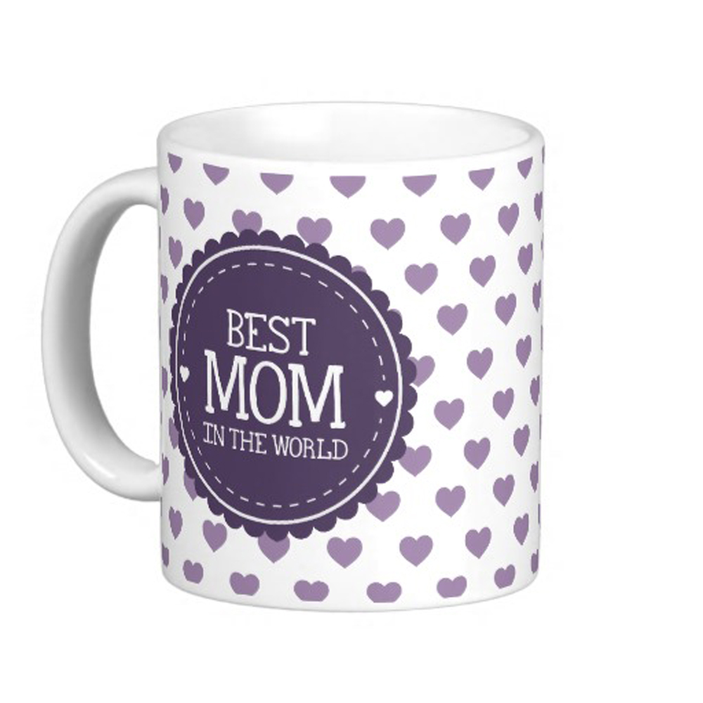 Best Mom in the World Violet Hearts and Circle Classic DIY Coffee mugs Tea Mugs Customize Personal mug Gift By LVSURE(China (Mainland))