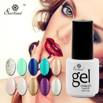 Saviland Gel Nail Polish Gorgeous 58 colors long Lasting Gel Lacquer Varnish Nails Art Manicure Glitter UV Nail Gel