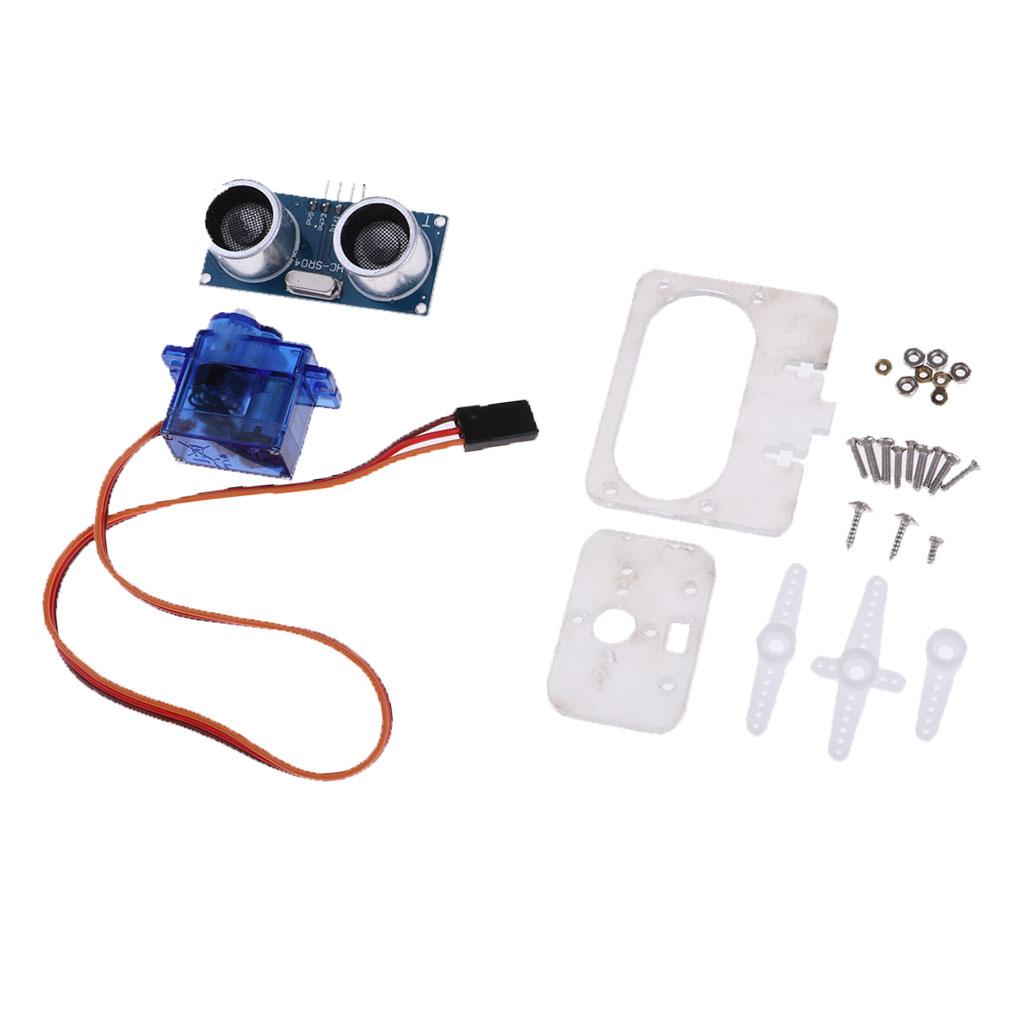 Ultrasonic Distance Measuring Transducer Sensor Board with 9G Servo Bracket Kit for Arduino Robot Smart Car Microcontroller