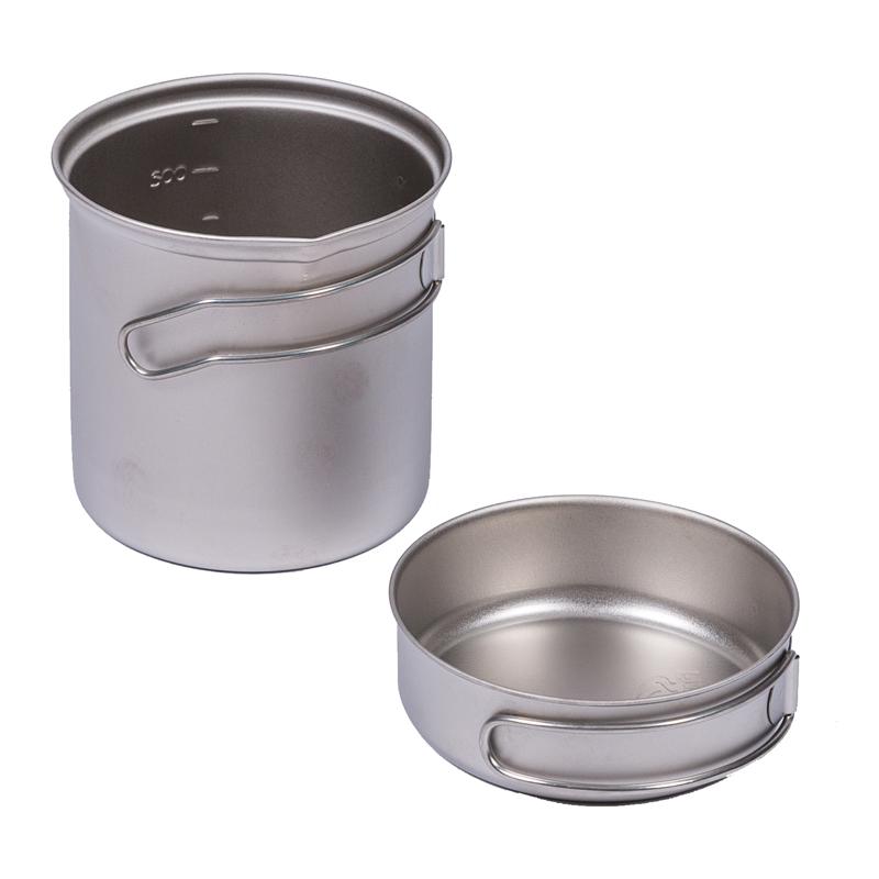 Fire-maple Outdoor Cookware Pot and Pan Lightweight Titanium Pot Set(China (Mainland))