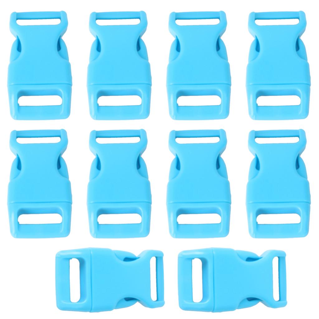 VSEN Hot Style10pcs 5/8 Side Release Plastic Buckles for 0.6 Webbing Straps Sky Blue<br><br>Aliexpress